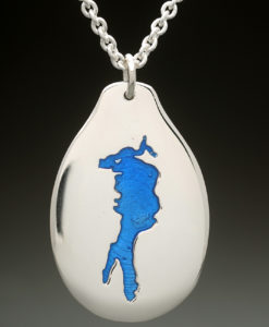 mj harrington jewelers nh conway lake custom necklace pendant silver