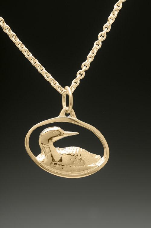 mj harrington jewelers nh loon jewelry necklace pendant gold