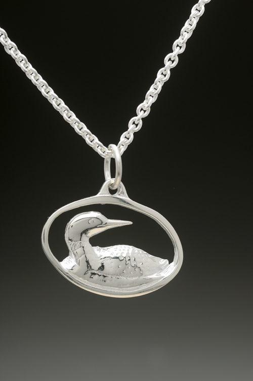 mj harrington jewelers nh loon jewelry necklace pendant silver