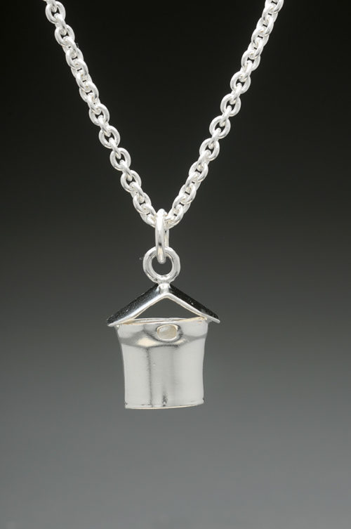 mj harrington jewelers nh maple syrup sap bucket jewelry necklace flat silver
