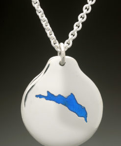mj harrington jewelers nh northwood lake custom necklace pendant silver