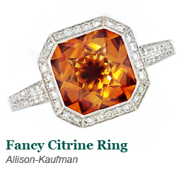 Allison-Kaufman Citrine Ring