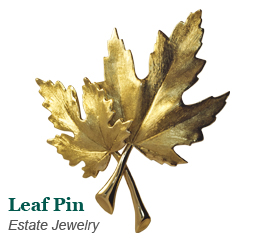 Estate Maple Leaf Pin