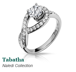 Naledi Diamond Swirl Ring