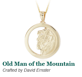 Old Man of the Mountain Pendant