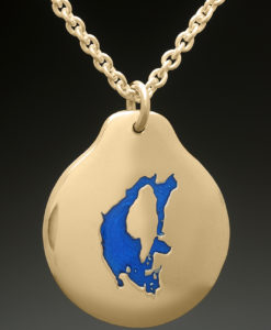 mj harrington jewelers nh big island pond custom necklace pendant gold