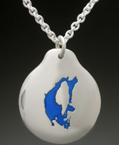mj harrington jewelers nh big island pond custom necklace pendant silvver