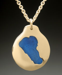 mj harrington jewelers nh chocorua lake custom necklace gold