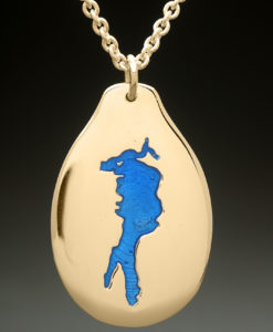 mj harrington jewelers nh conway lake custom necklace pendant gold