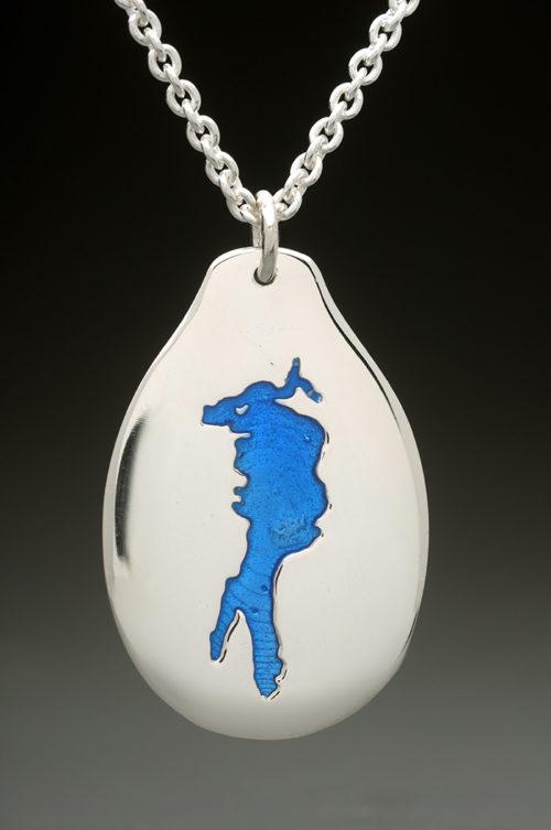 mj harrington jewelers nh conway lake custom necklace pendant silver