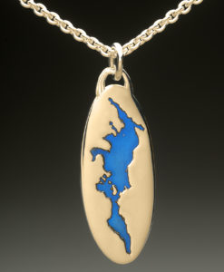 mj harrington jewelers nh lake sunapee custom necklace pendant gold