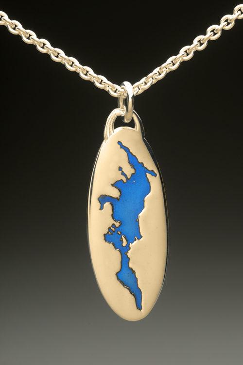 mj harrington jewelers nh lake sunapee custom necklace pendant gold