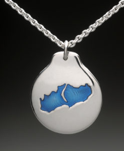 mj harrington jewelers nh little lake sunapee new london custom necklace pendant silver