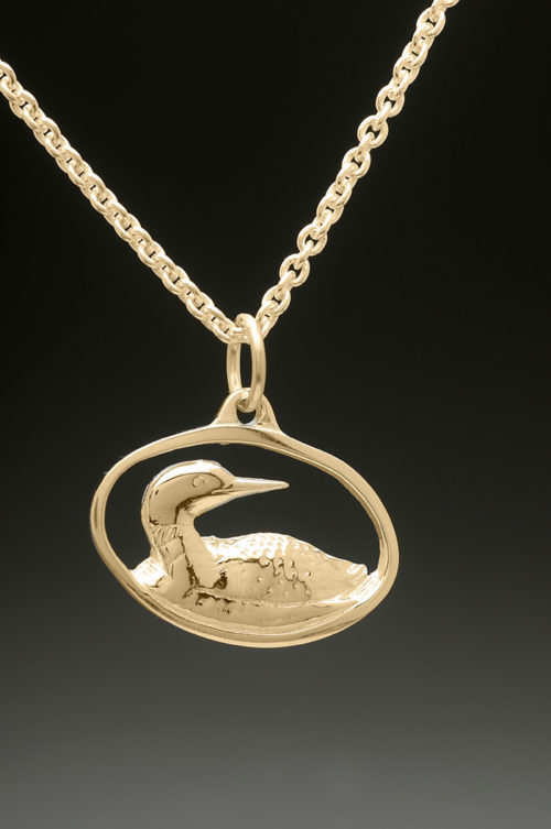 mj harrington jewelers nh loon jewelry necklace pendant gold
