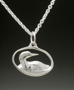 mj harrington jewelers nh loon jewelry necklace pendant silver