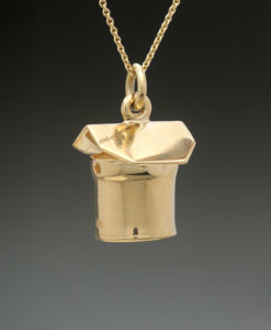 mj harrington jewelers nh maple syrup sap bucket jewelry necklace round gold