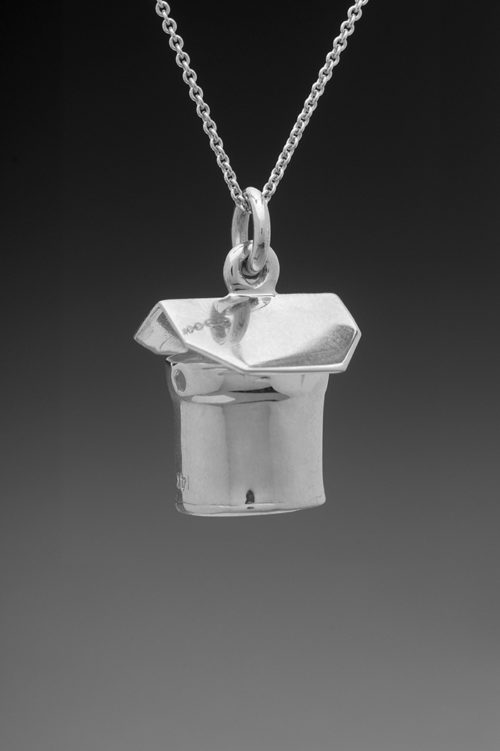 mj harrington jewelers nh maple syrup sap bucket jewelry necklace round silver