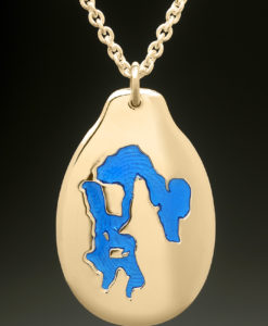 mj harrington jewelers nh massabesic lake manchester custom necklace pendant gold