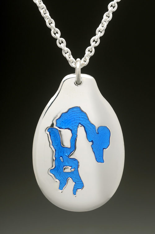 mj harrington jewelers nh massabesic lake manchester custom necklace pendant silver
