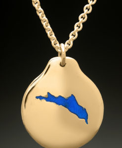 mj harrington jewelers nh northwood lake custom necklace pendant gold