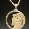 mj harrington jewelers nh old man of the mountain necklace pendant large gold