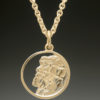 mj harrington jewelers nh old man of the mountain necklace pendant small gold