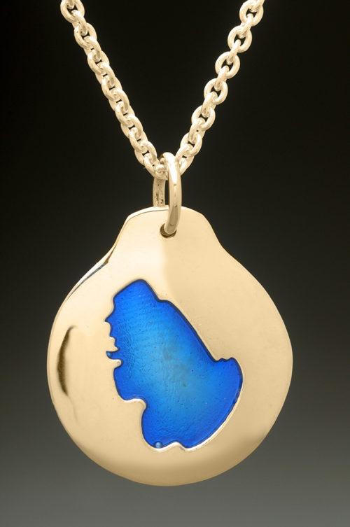 mj harrington jewelers nh ossipee lake custom necklace pendant gold