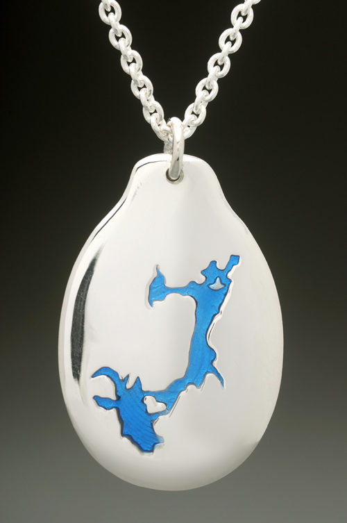 mj harrington jewelers nh pawtuckaway lake nottingham custom necklace pendant silver
