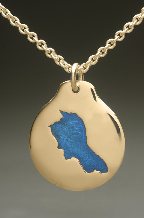 mj harrington jewelers nh upper suncook lake custom necklace pendant gold